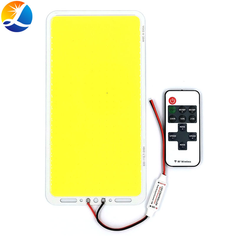 220x113mm 200W Dimmable COB LED Panel Light Remote Control Bulb With Dimmer 12V LED Lamp Board For Indoor Outdoor Lighting DIY