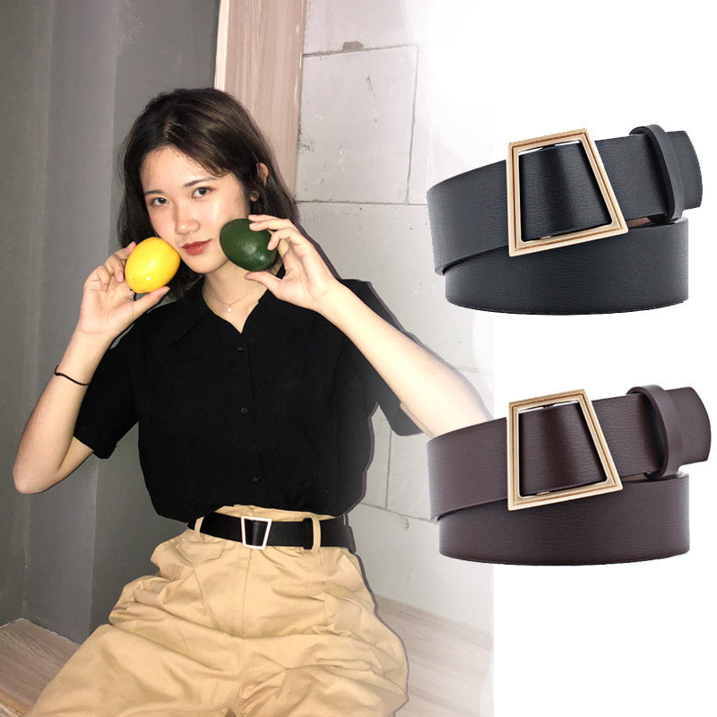 Luxury Korean Round Buckle Belt PU Women Casual Belts High Quality Ladies Jeans With Fashion Dress Pants 2020