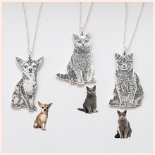 925 sterling silver necklace personalized custom your pet pattern dog and cat necklace & pendant fashion jewelry free shipping