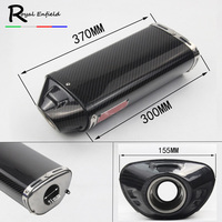 51mm universal Motorcycle exhaust muffler tail muffler for Honda CBR600rr f5 cbr1000rr zx6r underseat