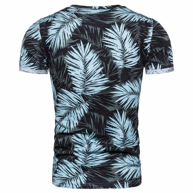 2020 neue Sommer Hawaii Strand Stil 100% Baumwolle Druck T-shirt Männer Weiche Hohe Qualität Mens T-shirts Streetwear Tops Tees Hemd männer
