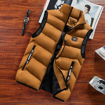 Fashion Mens Jacket Sleeveless Vest Spring Thermal Soft Vests Casual Coats Male Cotton Men's Vest Men Thicken Waistcoat 8XL