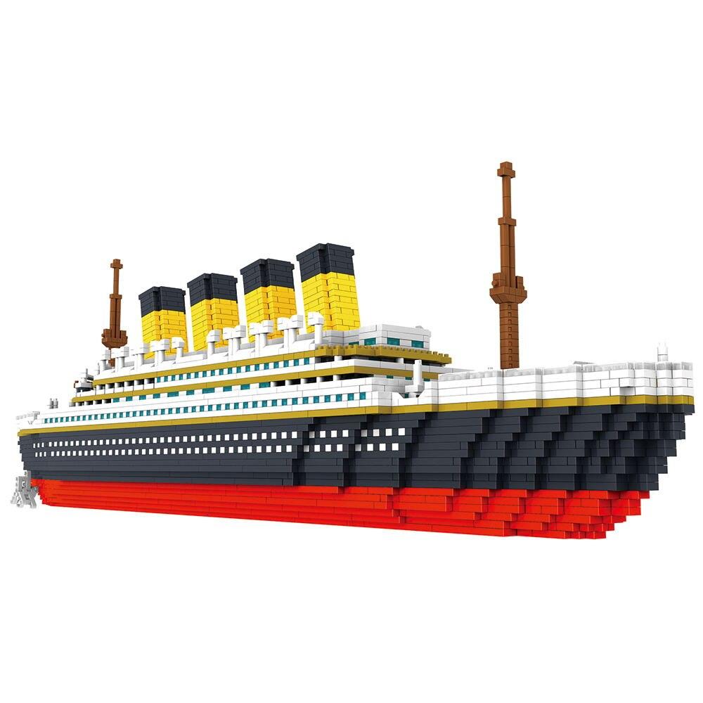 3800 pcs blocos titanic navio de cruzeiro 05