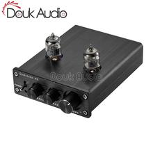 Douk Audio Mini Vacuum Tube Preamplifier HiFi Home Stereo Audio Bass Preamp Tone Control