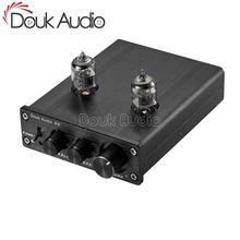 Douk áudio mini tubo de vácuo pré amplificador de alta fidelidade áudio estéreo em casa baixo controle de tom preamp