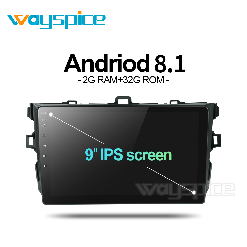 Wayspice android 8.1 car dvd for <font><b>Toyota</b></font> <font><b>corolla</b></font> <font><b>E140</b></font> <font><b>E150</b></font> 2007 2008 2009 2010 2011 2013 car dvd radio gps stereo image