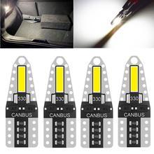 4 шт w5w светодиодный canbus t10 фонарь для парковки автомобиля