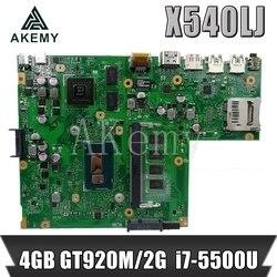 Nowy!!! Mianboard dla ASUS X540L F540L X540LJ laptopa płyty głównej płyta główna w REV2.1 pracy Test 100% 4G RAM I7 5500U GT920M w Płyty główne od Komputer i biuro na