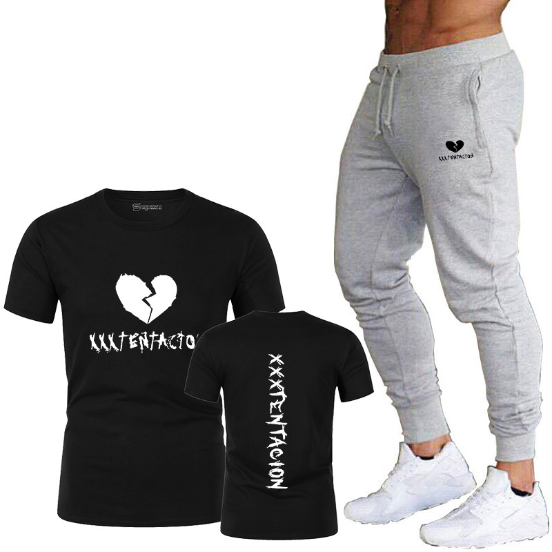 Xxxtentacion Revenge T-shirt Men And Women Rapper T-shirt Camisetas Hombre StreetwearXxxtentacion T-shirt Men's Track Pants Suit