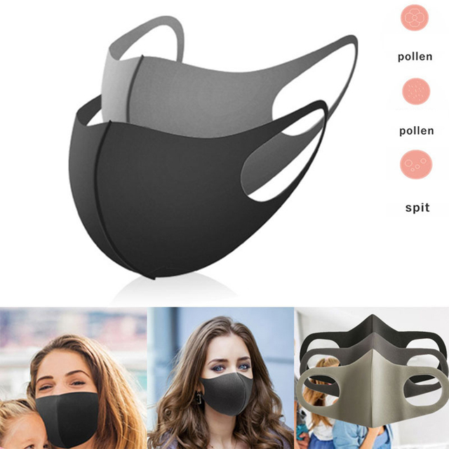 3PC Ice Fabric Dustproof Face Mask Unisex Korean Style Outdoor  Cycling Walking Anti-Dust Protective Cover Washable Masks 1