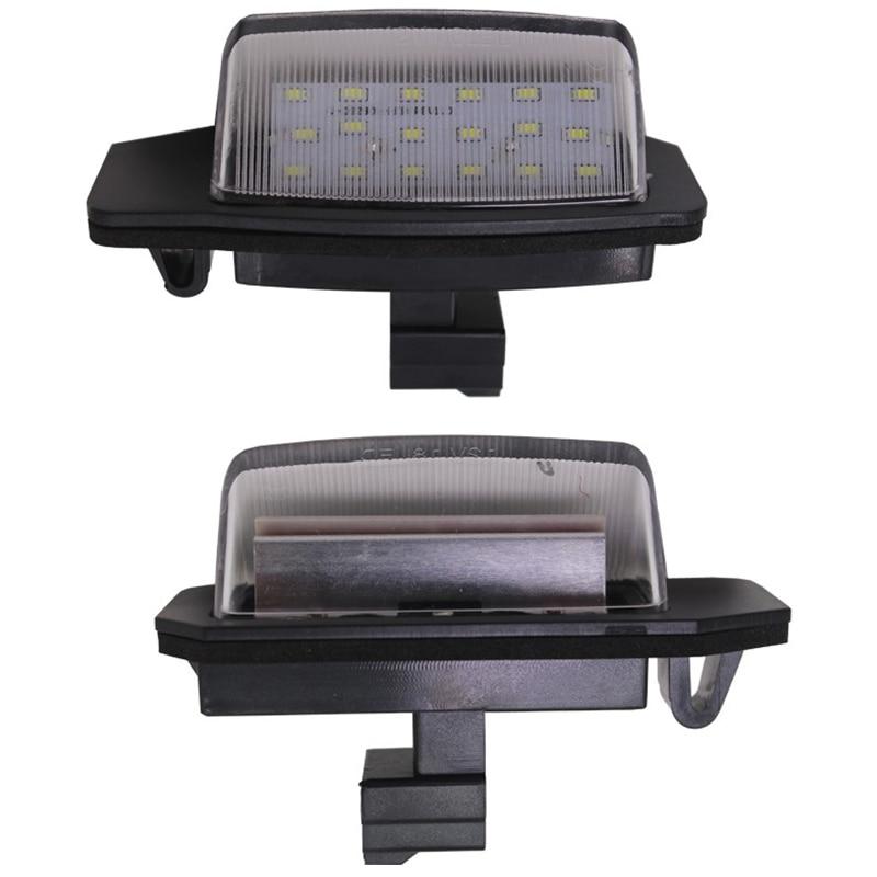 2Pcs 12V Led Canbus Led License Plate Light For Mitsubishi Outlander 2006~ Lancer Sportback 2008 Replacement Assembly