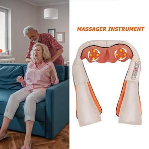 Image 3 - Masajeador eléctrico para el cuello, fabricación elaborada, Dispositivo de masaje para amasar hombro con calefacción infrarroja duradero, cuidado de la salud, Dropshipping