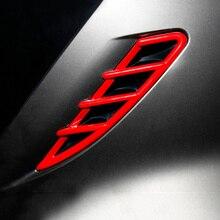 อุปกรณ์เสริมสำหรับสมาร์ท451 Fortwo 2009 2010 2011 2012 2013 2014 Car Air Outletด้านข้างFenderตกแต่งVentสติกเกอร์