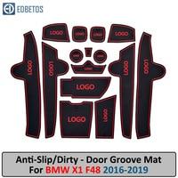 Anti Slip Mat For BMW X1 F48 2016 2017 2018 2019 Gate Slot Coaster Anti Dirty Door Groove Mat|  -