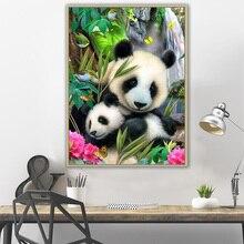 DIY 5D Diamond Painting Animal Panda Embroidery Mosaic Picture Rhinestone mural  Home decor gift Sale