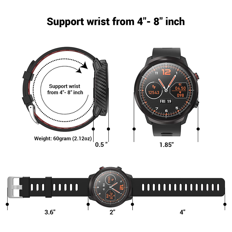 L3 Waterproof Smart Watch with Round Screen Heart Rate Pedometer and Call Message Reminder Smart Activity Tracker for Women Men 18