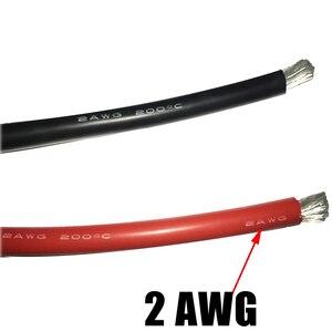 Image 4 - 2AWG 35 ^ mm Gauge AWG silikonowa guma miękka drut kabel żaroodporny miękkiego silikonu żel krzemionkowy diy druciana kabel dostosuj przewód przyłączeniowy
