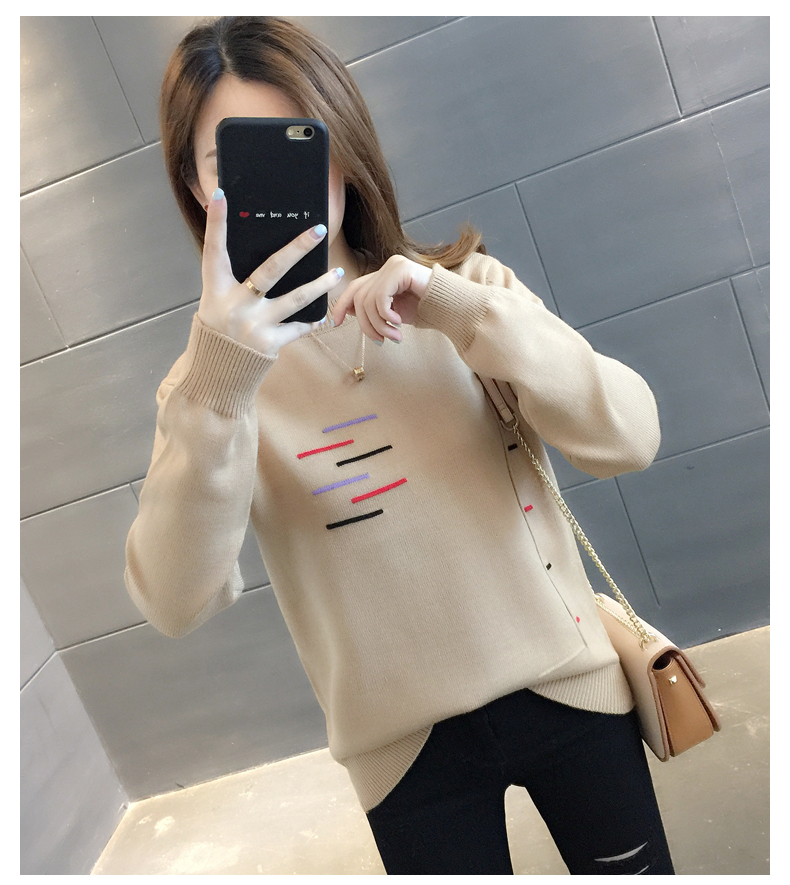 Sweaters women's 19 new fashion Korean loose autumn winter knitting bottoms wear Western clothes 17