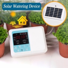 Solar Charging Drip Irrigation System,Double Pump Automatic Watering Device Micro Sprinkler + Watering Timer For Home/Garden