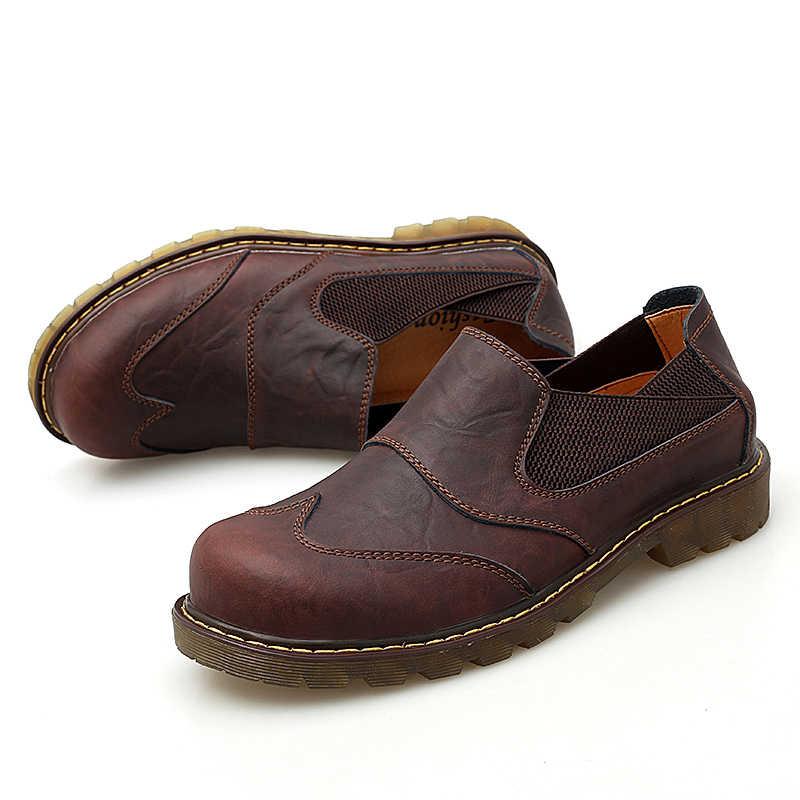 Vancat Marke Neue Atmungsaktive Oxford herren Schuhe Top Qualität Kleid Schuhe Männer Wohnungen Fashion Echtes Leder Casual Schuhe Arbeit schuhe