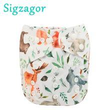 [Sigzagor] Горячая распродажа! Карман ткань пеленки подгузник многоразовый моющийся регулируемый 3 кг-15 кг