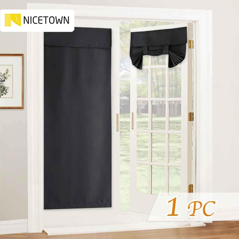 Grommet Top Panel, 46 inches W x 63 inches L NICETOWN Burgundy Red Blind for Christmas Tie Up Shade Blackout Curtain for Kitchen Window on Christmas /& Thanksgiving Day