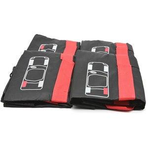 Image 4 - 4Pcs อะไหล่ยางกรณีโพลีเอสเตอร์ฤดูหนาวและฤดูร้อนยางรถเก็บกระเป๋า Auto ยางอุปกรณ์เสริมล้อรถป้องกันสีแดง