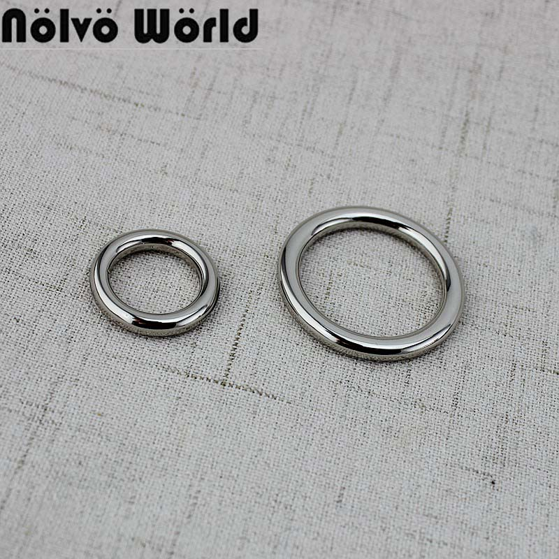 10-50 Pieces 6colors 16mm,27mm,Non Welded Metal Round O-Ring Solid Cast  Cosed O Rings  Clasp Clip  For Diy Accessories