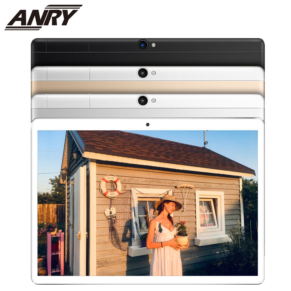 ANRY 2019 Newest 10 Inch Tablet PC 3G Quad Core 4GB RAM 32GB ROM Dual SIM 5.0MP Android 7.0 GPS Bluetooth WiFi Tablet PC 10.1
