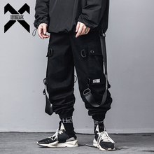 11 BYBB'S DARK Hip Hop Tactics Cargo Pants Men 2020 Fashion Streetwear Mens Joggers Ribbon Pocket Pencil Trousers DG541