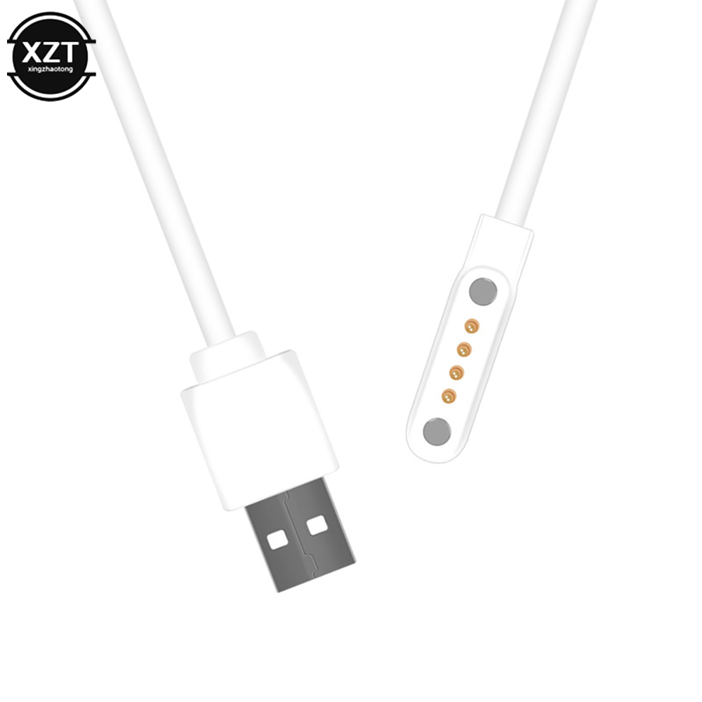 smart watch Backup 4pin magnetic charge strong charging Charger Cable for kw88 <font><b>kw99</b></font> kw06 kw98 q100 q750 kw18 y3 h1 h2 image