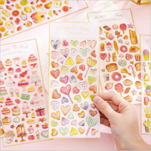 1pcs/lot Lovely Sweet Cake Crystal Epoxy DIY Album Diary Mobile Phone Decorative Stickers Mini Student Stationery Gift