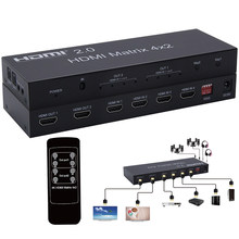 4K HDMI 2.0 Matrix 4X2 HDMI 4X2 Matrix with audio HDMI 2X2 matrix HDMI matrix Switcher Switch 4 in 2 Splitter 4K 60HZ HDCP 2.2(China)