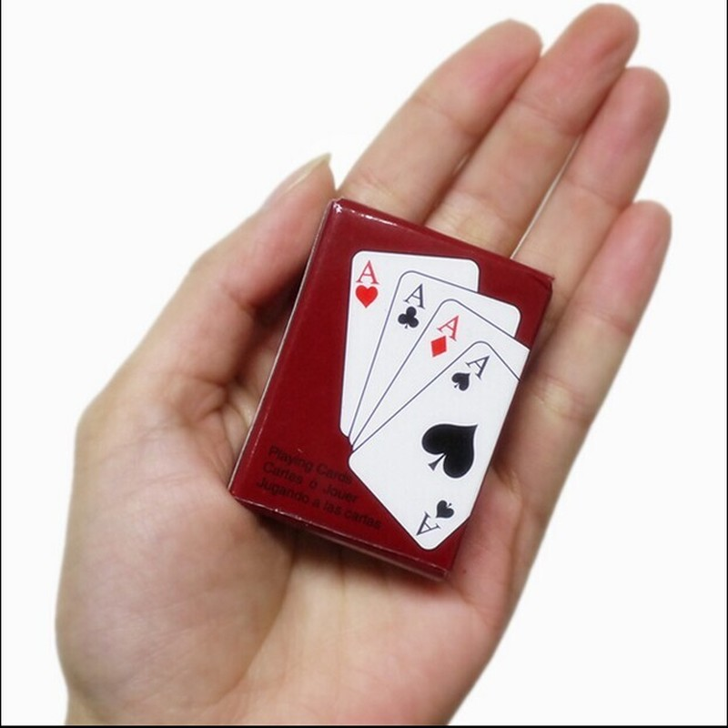 Mini Cute Poker Home Decoration Poker Cards Playing Game Creative Child Gift Outdoor Climbing Travel Accessories