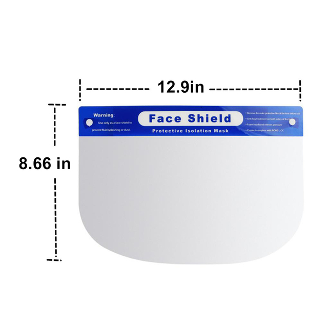 Transparent Protective Mask Full Face Shield Masks Anti Saliva Splash-proof Protect Eye Full Face Mask Cover Protective Visor 4