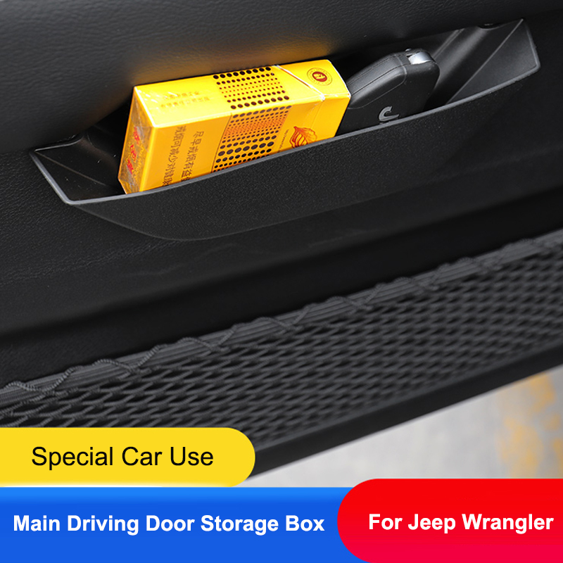 QHCP Car Rear Trunk Stickers Original Texture Leather Tail Trunk Door Protective Pad Covers Anti-Scratch 4Pcs Fit for Jeep Wrangler JL 2018 2019