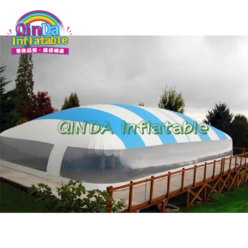 Outdoor Inflatable Pool Bubble Dome Air Clear Inflatable Pool Dome Transparent Swimming Inflatable Pool Cover Tent