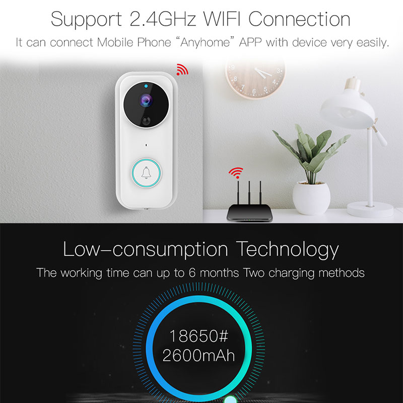 èCloseout DealsBell Camera Smart Wifi Video-Call Outdoor-Door Audio-Motion-Detection Home-Ring Wireless∞