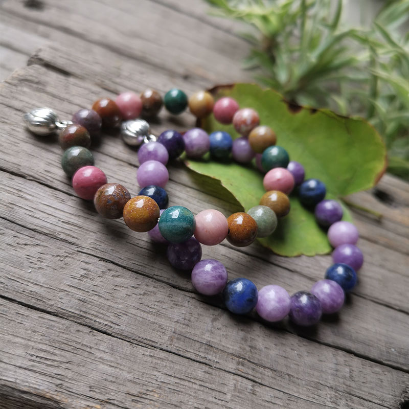 8mm Natural Ocean And Purple Star Stone Beads,Friendship Bracelet,Prayer Bracelet,Bring Sweet And Romantic Jewelry Gift For You