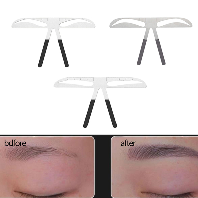 DIY Eyebrow Ruler Popular  Eyebrow Stencils Ruler Makeup Microblading  Measure Tools Beauty Balance Tattoo Stencil Template