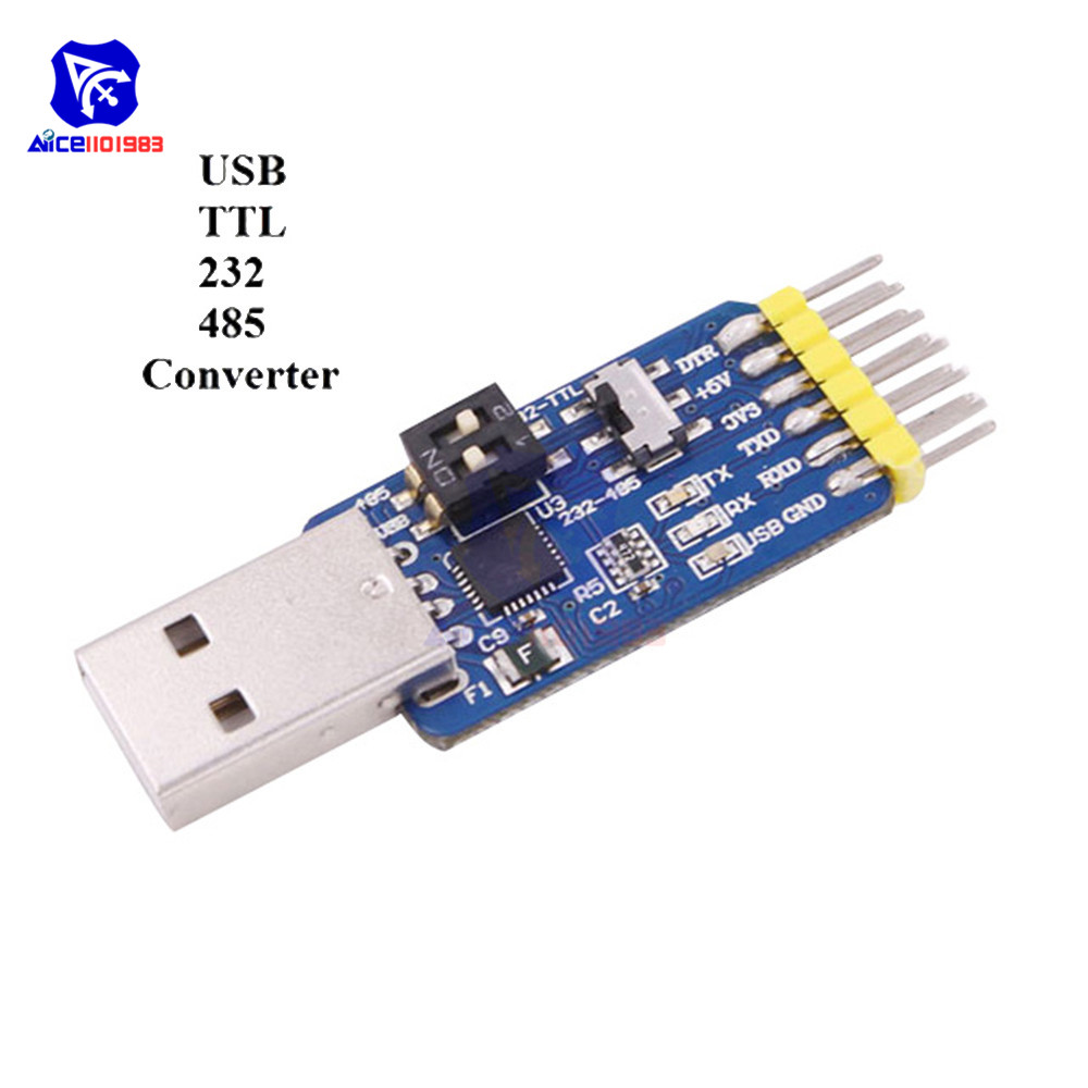 diymore CP2102 USB-UART 6-in-1 Multifunctional(USB-TTL/RS485/232,TTL-RS232/485,232 to 485) Serial Adapter for Arduino image