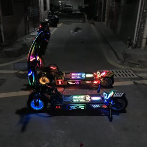 2020 KWHEEL CUSTOMISED SCOOTER led deck 60V 35Ah electric scooter(China)