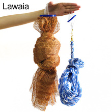 Lawaia American Style Hand Cast Net USA Nets Water Throw Fly Fishing Network Small Mesh Gill Without Sinker