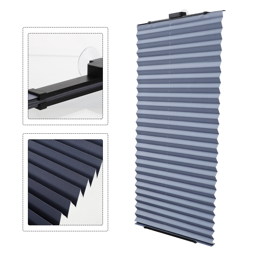 Home Simple Blackout Curtain Punch Free Pleated Curtain Blinds Bedroom Decor
