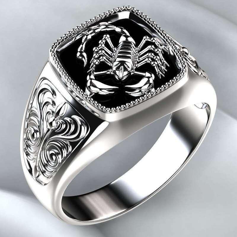 Чухан Milangirl Высокое качество готический панк из нержавеющей стали Скорпион мужской ретро кольцо Скорпион шаблон кольца для мужчин ювелирные изделия