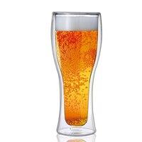 Новый с двойными стенками, для пива стекло смешное молоко вино стеклянный стакан для сока вечерние посуда для бара Водка Виски шампанское к...