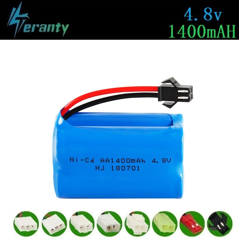 ( T Model ) 4.8v 1400mah NICD Battery For Rc Toys Cars Tanks Robots Boats Guns 4.8v Rechargeable Battery 4*AA Battery Pack 1Pcs