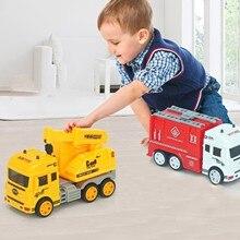 Новый мини-пожарный инженерный автомобиль, игрушки, подарки для детей дошкольного возраста, Высококачественная имитация мини-модели грузо...