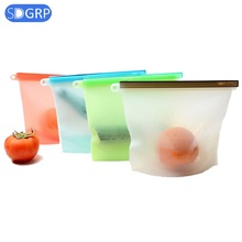 Reusable Refrigerator Fresh Bags Silicone Food Storage Bag Ziplock Home Silicone Containers Meat Vegetables Kitchen Organizer стоимость
