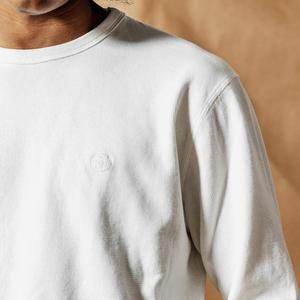 Image 3 - SIMWOOD 2020 אביב חדש ארוך שרוול חולצה גברים משובץ רקום לוגו משובץ חולצת טי בסוודרים למעלה 100% כותנה t חולצה 190272